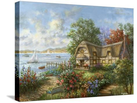 Seacove Cottage-Nicky Boehme-Stretched Canvas Print