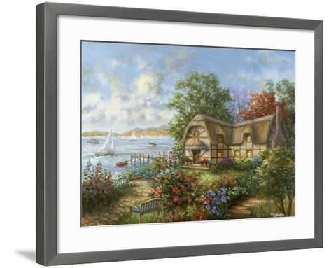 Seacove Cottage-Nicky Boehme-Framed Art Print