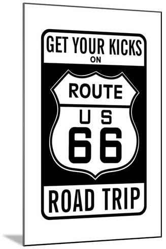 Route 66--Mounted Giclee Print