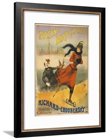 Patin-Bicyclette - Richard-Choubersky--Framed Art Print