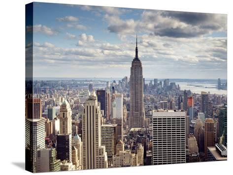 NYC the Empire-Nina Papiorek-Stretched Canvas Print