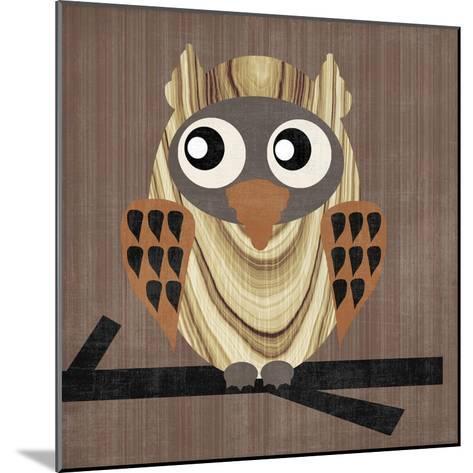 Owl 1-Erin Clark-Mounted Giclee Print