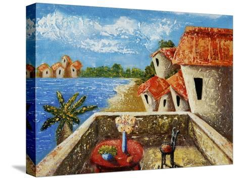 Playa Gorda II-Oscar Ortiz-Stretched Canvas Print