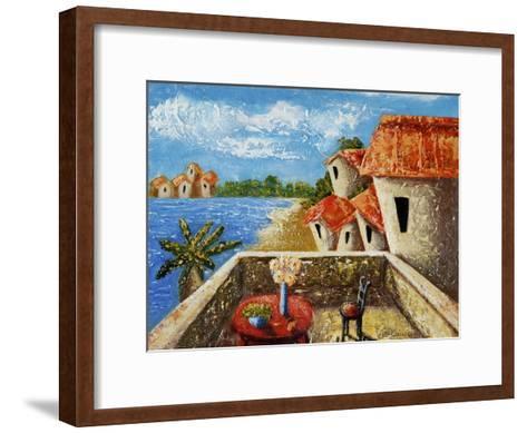 Playa Gorda II-Oscar Ortiz-Framed Art Print