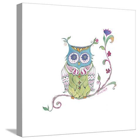 Owl Branch--Stretched Canvas Print