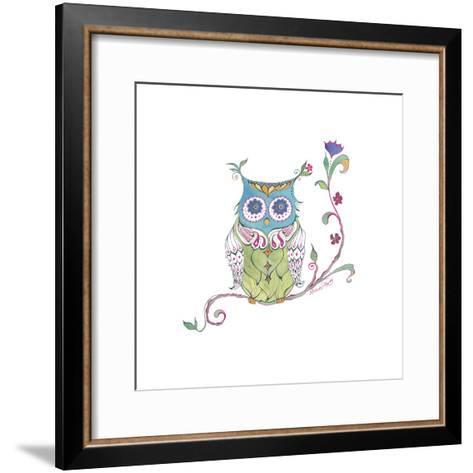 Owl Branch--Framed Art Print