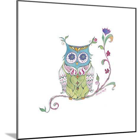 Owl Branch--Mounted Giclee Print