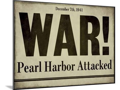 Pearl Harbor--Mounted Giclee Print