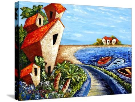 Ocean Village-Oscar Ortiz-Stretched Canvas Print