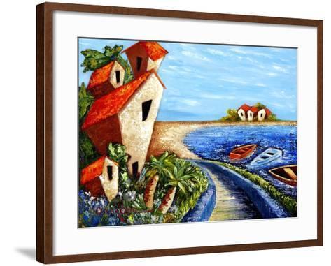 Ocean Village-Oscar Ortiz-Framed Art Print