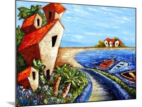 Ocean Village-Oscar Ortiz-Mounted Giclee Print