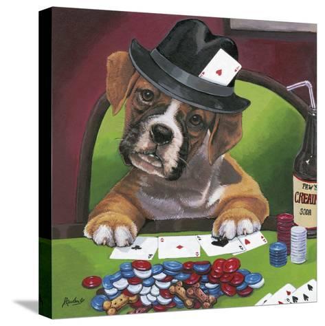Poker Dogs 2-Jenny Newland-Stretched Canvas Print