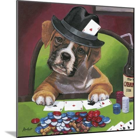 Poker Dogs 2-Jenny Newland-Mounted Giclee Print