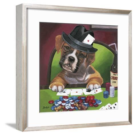 Poker Dogs 2-Jenny Newland-Framed Art Print