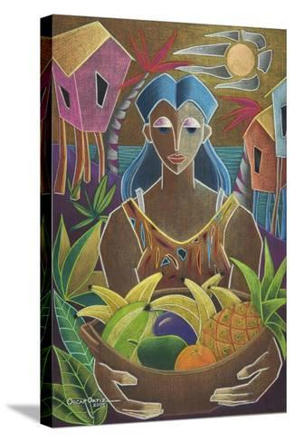 Offerings from Our Land-Oscar Ortiz-Stretched Canvas Print
