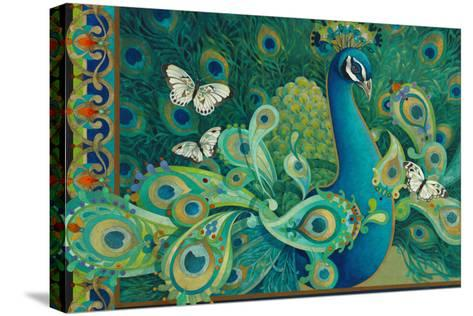 Paisley Peacock-David Galchutt-Stretched Canvas Print