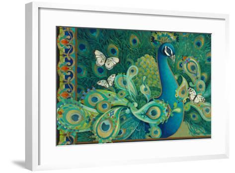 Paisley Peacock-David Galchutt-Framed Art Print