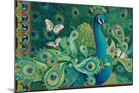Paisley Peacock-David Galchutt-Mounted Giclee Print