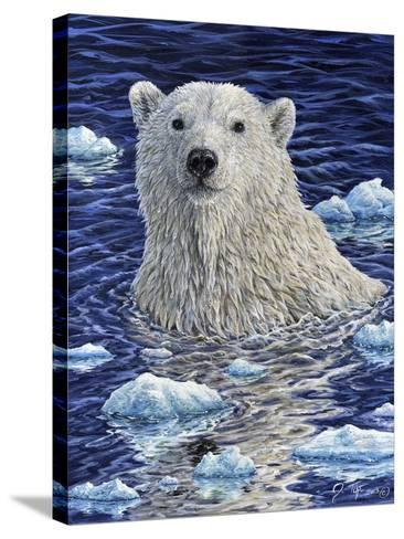 Polar Bear Painting-Jeff Tift-Stretched Canvas Print