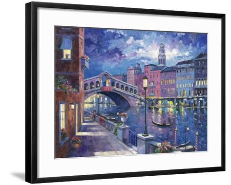 Rialto Bridge-John Zaccheo-Framed Art Print