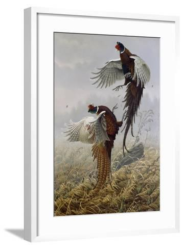 Ringneck Rivalry-Wilhelm Goebel-Framed Art Print