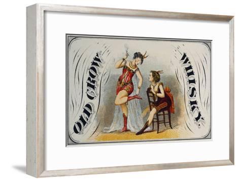 Old Crow Whiskey--Framed Art Print