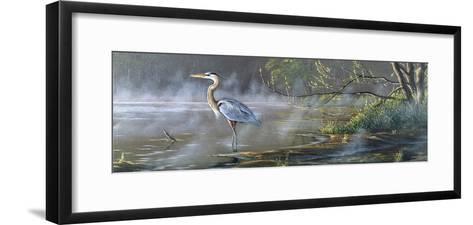 Quiet Cove - Great Blue Heron-Wilhelm Goebel-Framed Art Print