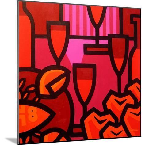 Poppies Apples Wine and Fish-John Nolan-Mounted Giclee Print