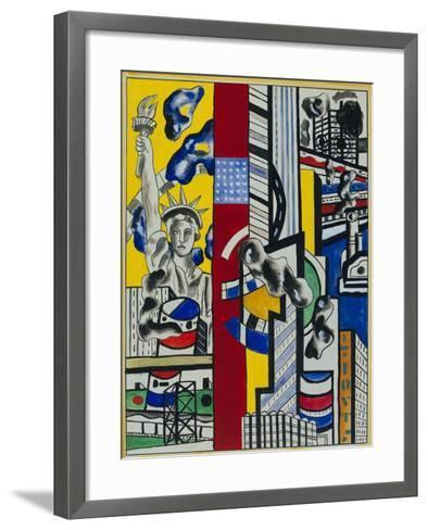 Study for Cinematic Mural, Study II--Framed Art Print