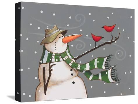 Snowman-Margaret Wilson-Stretched Canvas Print