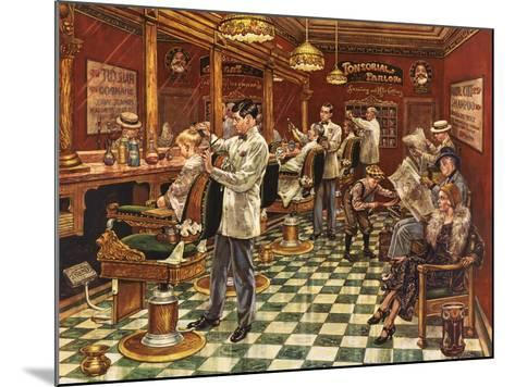 Tonsorial Parlor-Lee Dubin-Mounted Giclee Print