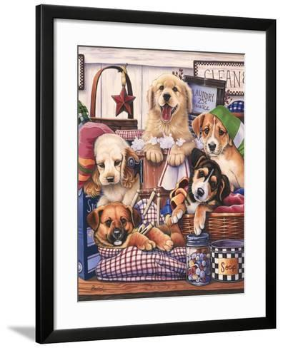 Suds and Pups-Jenny Newland-Framed Art Print