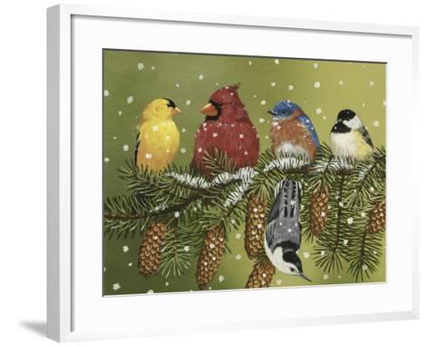 Snowy Feathered Friends-William Vanderdasson-Framed Art Print