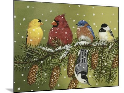 Snowy Feathered Friends-William Vanderdasson-Mounted Giclee Print
