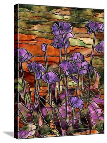 Stained Glass Poppies-Mindy Sommers-Stretched Canvas Print