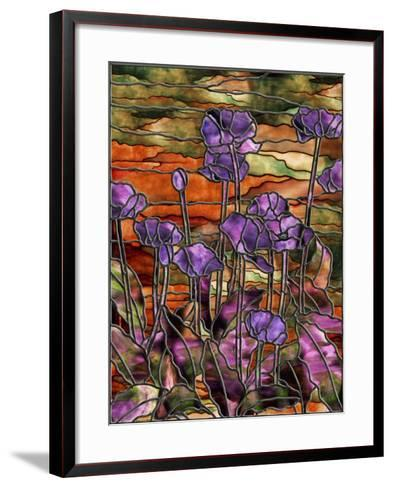 Stained Glass Poppies-Mindy Sommers-Framed Art Print
