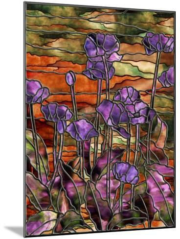 Stained Glass Poppies-Mindy Sommers-Mounted Giclee Print
