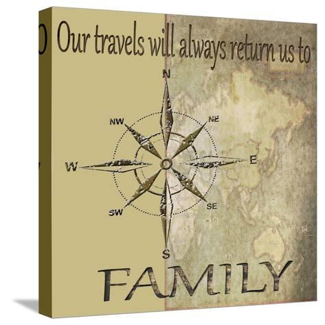 Travels lead back to Family-Karen Williams-Stretched Canvas Print