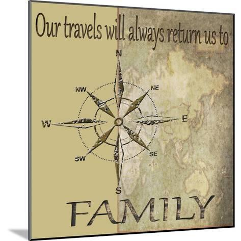 Travels lead back to Family-Karen Williams-Mounted Giclee Print