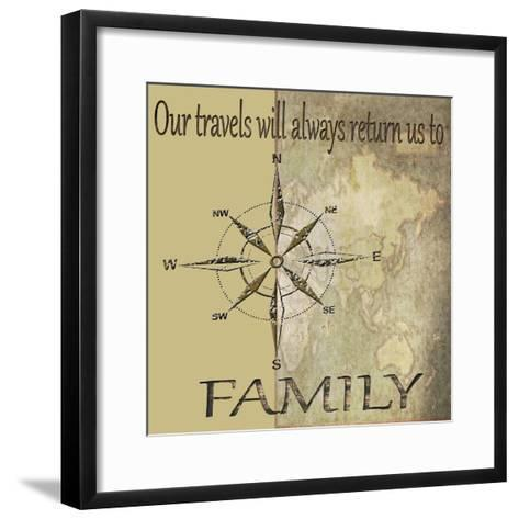 Travels lead back to Family-Karen Williams-Framed Art Print