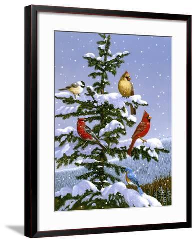 Songbirds on a Limb-William Vanderdasson-Framed Art Print