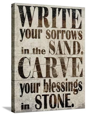 Sorrows in Sand-Karen Williams-Stretched Canvas Print