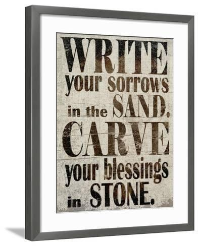 Sorrows in Sand-Karen Williams-Framed Art Print