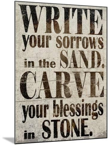 Sorrows in Sand-Karen Williams-Mounted Giclee Print
