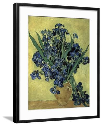 Van Gogh, Irises(1890)--Framed Art Print