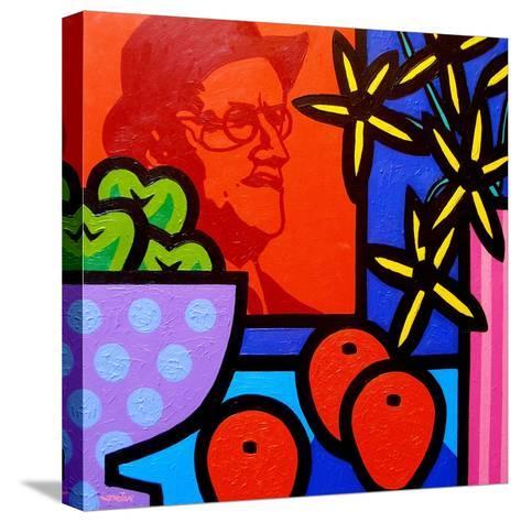 Still Life with James Joyce-John Nolan-Stretched Canvas Print