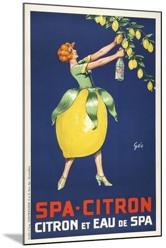 Spa Citron--Mounted Giclee Print