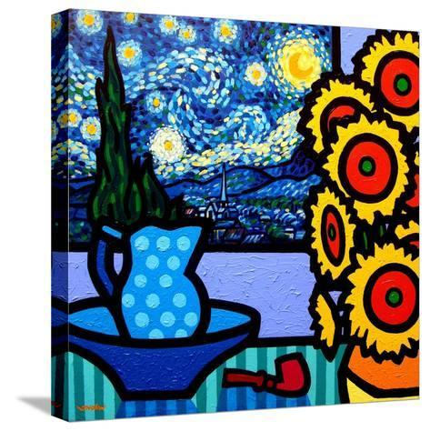 Still Life with Starry Night-John Nolan-Stretched Canvas Print