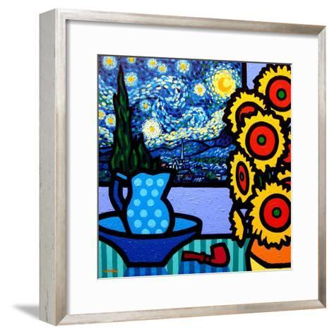 Still Life with Starry Night-John Nolan-Framed Art Print