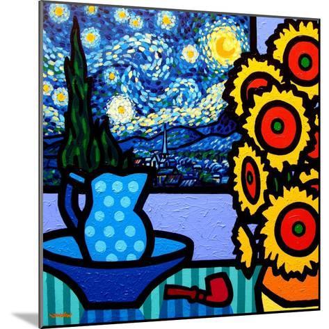 Still Life with Starry Night-John Nolan-Mounted Giclee Print